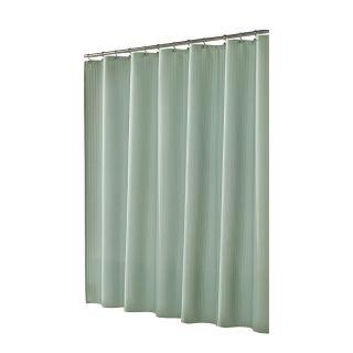 allen + roth Polyester Aqua Shower Curtain