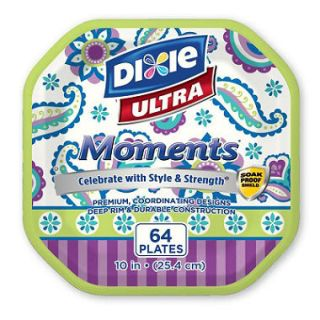 Dixie Ultra Moments Paper Plates (10 in., 64 ct.)