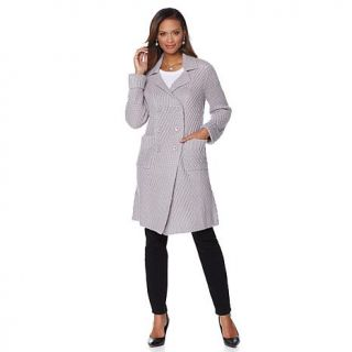 Jamie Gries Collection Textured Knit Sweater Coat   7825065