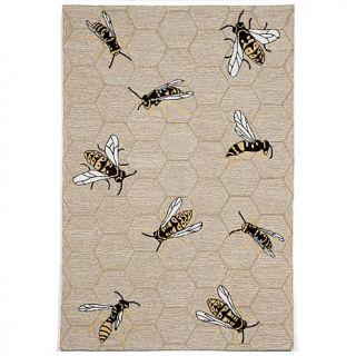 """Liora Manne Napa Honey Bee Rug   Neutral   42"""" x 66""""   8068032"""