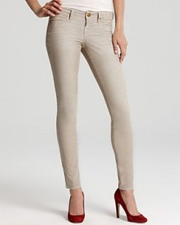 True Religion Pants   Shannon Mid Rise Skinny Cord in Stone