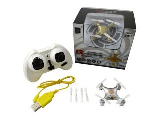 Cheerson CX 10A CX10A Headless Mode 2 Left Hand Throttle 2.4G 4CH 6 Axis RC Quadcopter RTF Silver