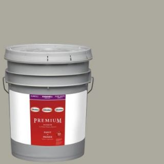 Glidden Premium 5 gal. #HDGCN01D Skipping Stone Grey Eggshell Latex Interior Paint with Primer HDGCN01DP 05E