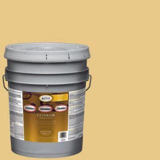Glidden Premium 5 gal. #HDGY46 Vintage Yellow Flat Latex Exterior Paint HDGY46PX 05F