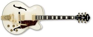 Ibanez Ibanez AF75TDG Hollow Body Electric Guitar (Ivory)   TVs