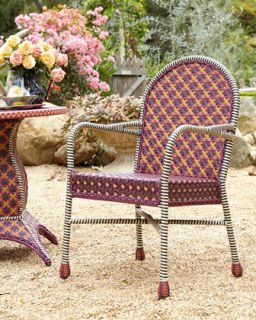 MacKenzie Childs Sunset Outdoor Cafe Chair