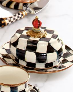 MacKenzie Childs Courtly Check Butter Dish