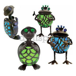 Garden Meadow Inc 1387GEM Solar Gem Turtles/Frogs, Pack of 4