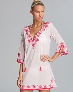Debbie Katz Serena Embroidered Cotton Tunic Swim Cover Up