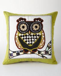 MacKenzie Childs Owl Pillow
