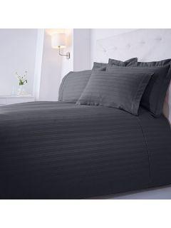 Luxury Hotel Collection Dobby stripe double duvet set slate