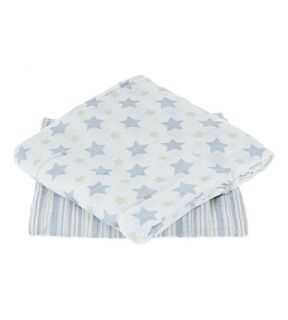 ADEN + ANAIS   Set of two prince charming muslin swaddles