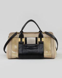 Chloe Alice Small Satchel Bag, Sand
