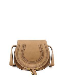 Chloe Marcie Small Saddle Bag, Nut