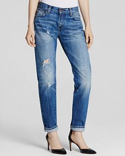 Levi's Vintage Clothing Medium Wash Faded Slight Destruction 505 Jeans in Peggy O