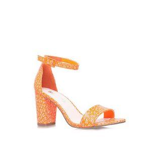 Miss KG Orange Paige mid heel ankle strap sandals
