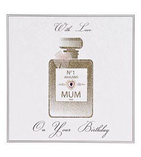 FIVE DOLLAR SHAKE   No.1 Amazing Mum perfume bottle birthday card