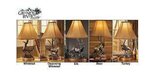 Grand River Lodge™ John Parsons Signature Series Wildlife Sculpture Table Lamps