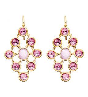 ASTLEY CLARKE   Amethyst chandeliers 18ct gold vermeil earrings
