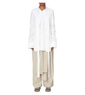 DANIEL GREGORY NATALE   Open cuff cotton shirt