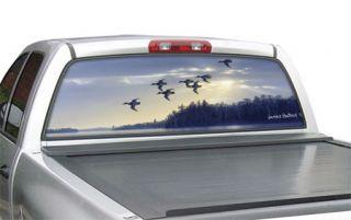 """Window Canvas WC301009 0   Blue Bills At Dawn Small truck (16"""" x 54"""") Bird and Duck Window Graphics   Window Graphics"""