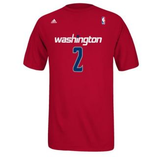 adidas John Wall Wizards Replica Tee   Red