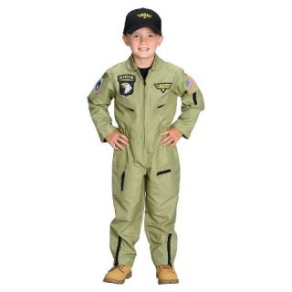 Jr. Armed Forces Pilot Toddler Kids Costume Brown