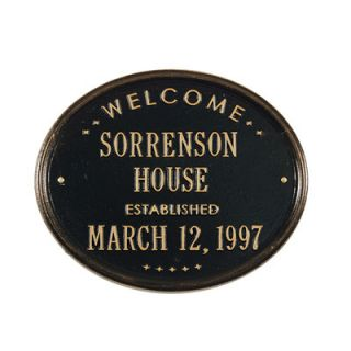 Whitehall Products Welcome House Garden Plaque