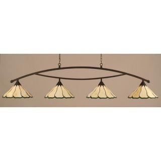 Bow 4 Light Kitchen Island Pendant by Toltec Lighting