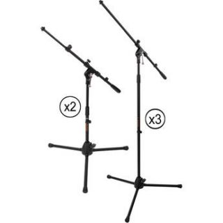 Auray 5 Piece Drum Kit Mic Stand Pack MS 5230F DK2