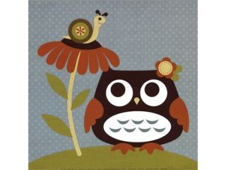 Owl Looking at Snail Poster Print by Nancy Lee (12 x 12)