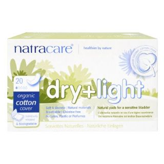Natracare Dry + Light Natural Pads, Light Bladder Weakness