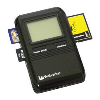 Wolverine PicPac 120 GB Hard Drive 11 in 1 Portable Memory Card Backup Storage Device with USB 2.0 Interface. 7512