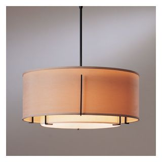 Hubbardton Forge Exos Double Shade 3 Light Drum Pendant