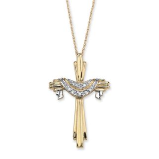 PalmBeach Diamond Accent 10k Gold Cross and Robe Pendant and 18 Chain