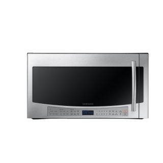 Samsung 2.1 cu ft Over The Range Microwave with Sensor Cooking Controls (Stainless Steel) (Common: 30 in; Actual: 29.81 in)