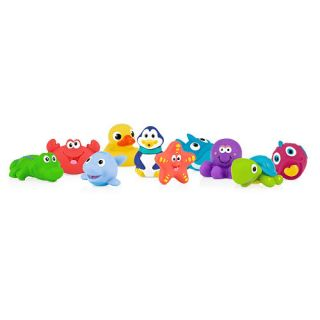 Nuby 10 pack Little Squirts Bath Toys    Nuby