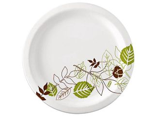 Dixie Ultra SXP10PATHPK Pathways Soak Proof Shield Heavyweight Paper Plates, 125/Pack, 10 1/8""