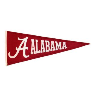 Winning Streak 2.67 ft W x 1.08 ft H Embroidered Alabama Crimson Tide Pennant
