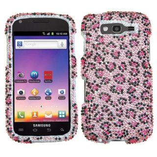 INSTEN Pink/ Black Diamante Phone Case Cover for Samsung T769 Galaxy S