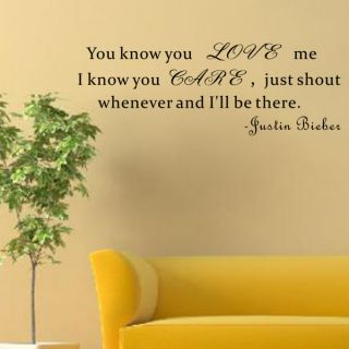 You Know You Love Me Wall Decal by Pop Decors