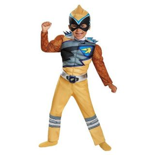 Toddler Boys Power Rangers Dino Charge: Gold Ranger Muscle Costume
