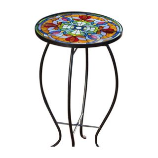 Evergreen Flag & Garden Tiffany Inspired Floral Side Table