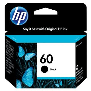 HP 60 Ink Cartridge   Black (CC640WN#140)