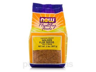 NOW Real Food   Golden Flax Seeds   2 lbs (907 Grams) by NOW