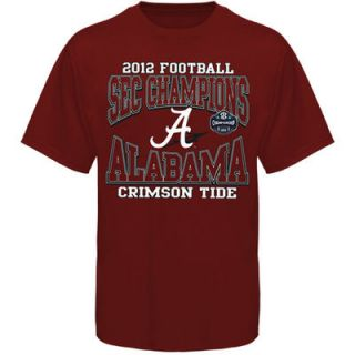 Alabama Crimson Tide 2012 SEC Football Champions T Shirt   Crimson