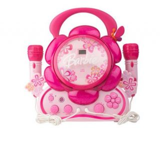 Barbie Floweroake Sing A Long CD Player with Dual Microphone —