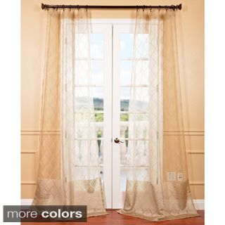 EFF Signature Palazzo Gold 108 inch Banded Sheer Curtains   14063914