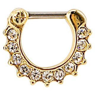 Supreme Jewelry™ Septum Nose Ring with Stones   Black/Clear