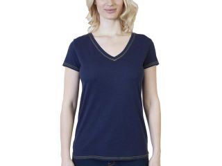 Women's Steven Craig Short Sleeve V Neck T Shirt with Trim